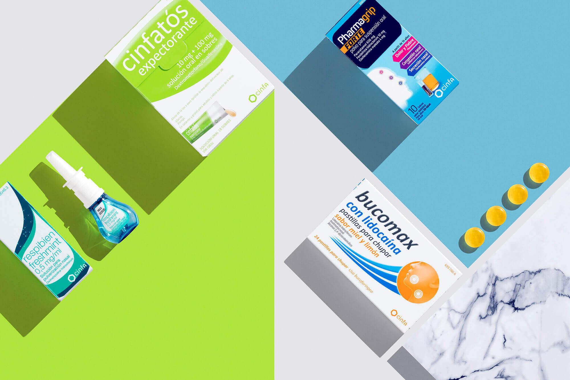 Medicamentos para el resfriado y la gripe: cinfatos, respibien, pharmagrip