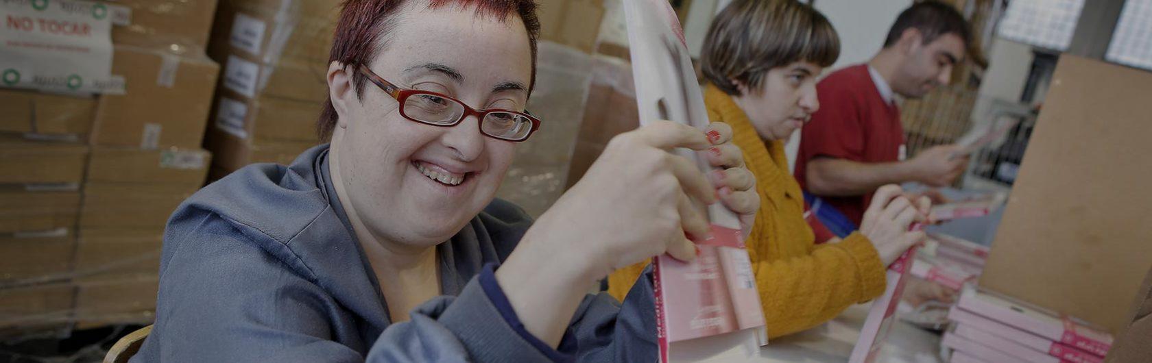Empleados con discapacidad en su puesto de trabajo