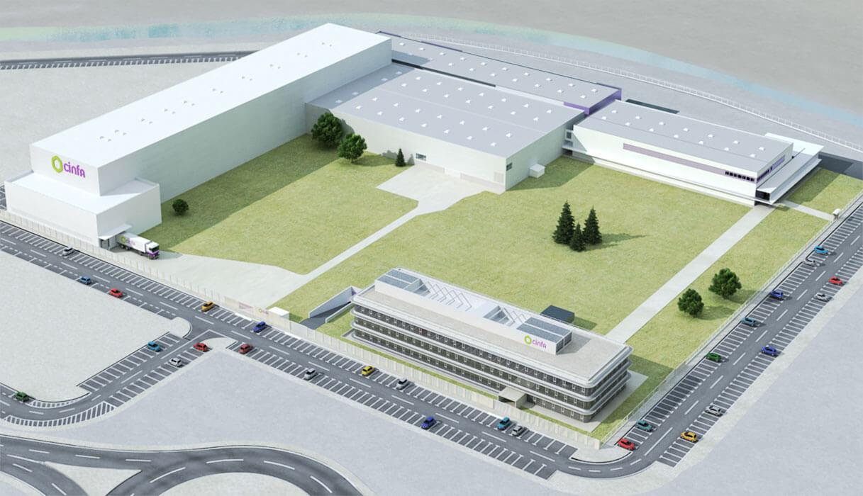 Planta de fabricación e I+D de CINFA en Olloki (Navara)